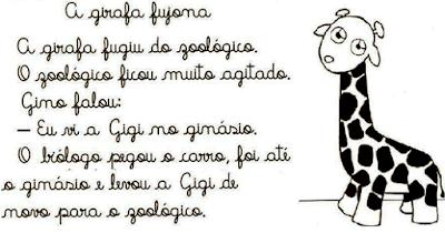 Texto A GIRAFA FUJONA