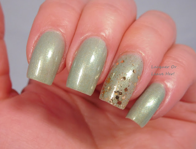 Incoco Eye Candy over Zoya Lacey