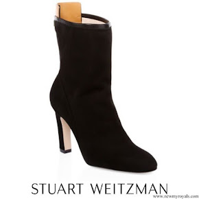 Meghan Markle wore Stuart Weitzman Brooks Suede Booties