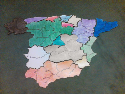 Grammazzle Mapa España Map Spain Sbaen Comunidades Autónomas