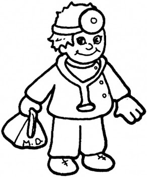 free doctor coloring pages - photo#4