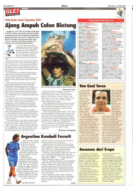 PIALA DUNIA JUNIOR ARGENTINA 2001