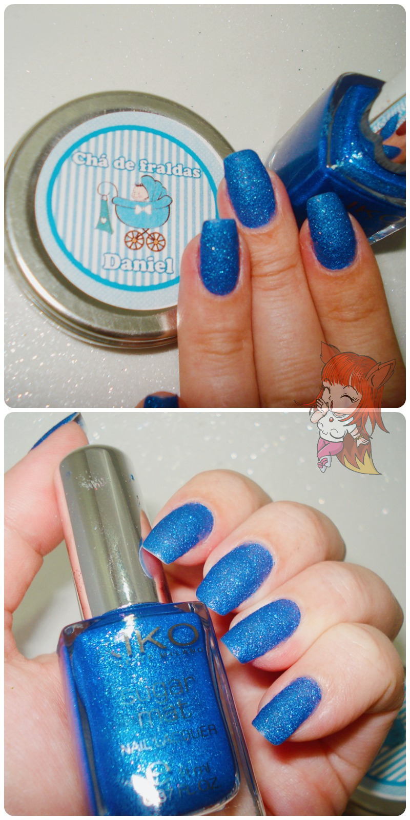Esmalte Kiko 457 Blu Reale -  Sugar Mat - Resenha