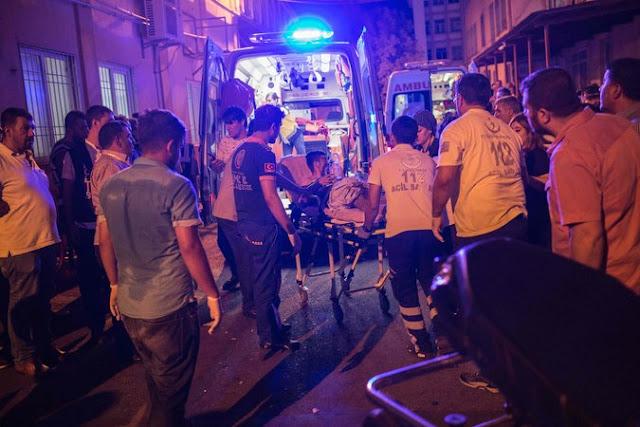 casualties of the bomb blast in Turkey
