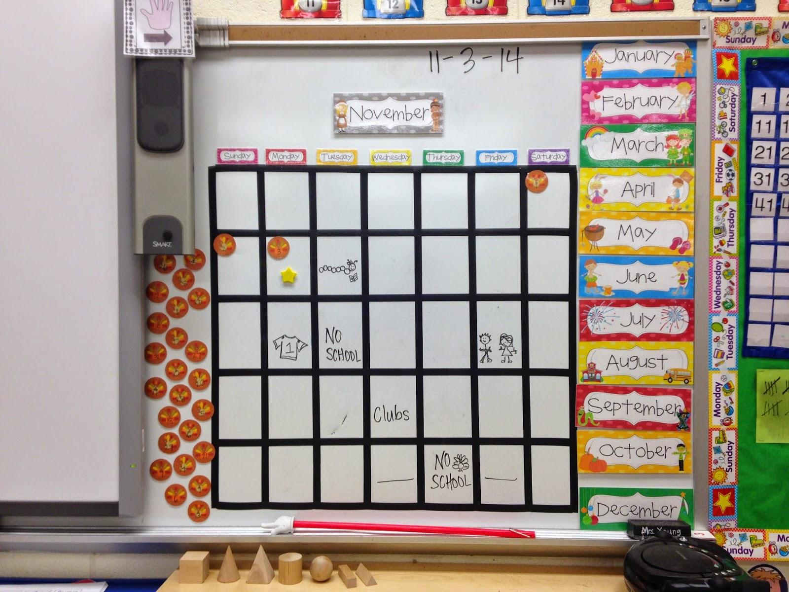 Little Miss Glamour Goes To Kindergarten Calendar
