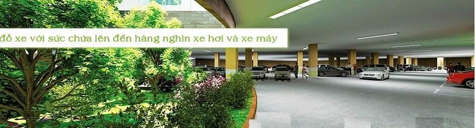 Bãi đỗ xe tại chung cư green stars