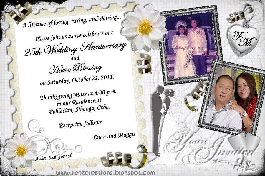 Renz Creations Invitations And Giveaways Enan And Maggie