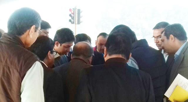 Parth Gupta observes the beautification of Faridabad Smart City