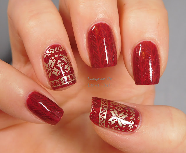 Messy Mansion MM84XL over Spellbound Nails Merry & Bright