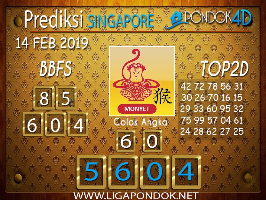 Prediksi Togel SINGAPORE PONDOK4D 14 FEBRUARI 2019