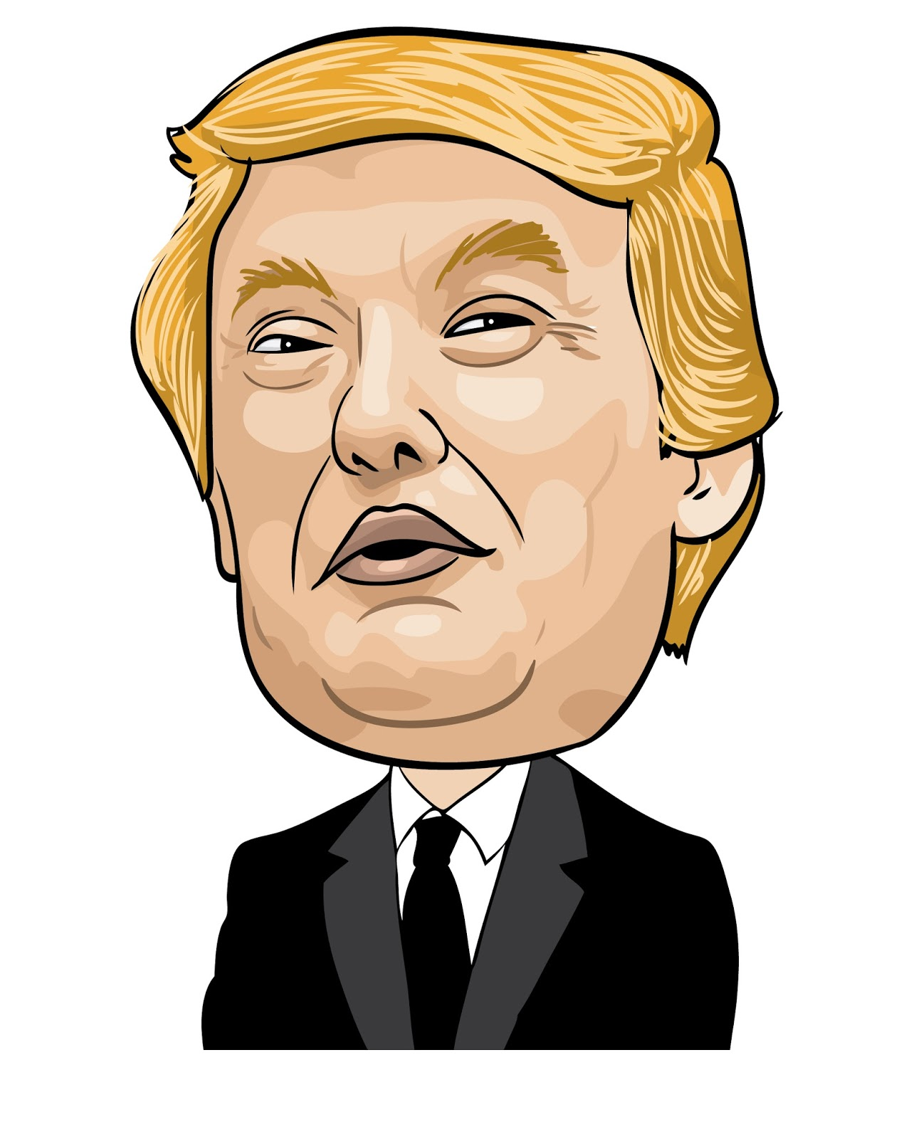 how to draw donald trump& 39
