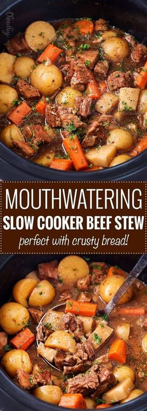 magine coming home to a fantastic soul-warming comfort food dinner recipe… sounds perfect doesn't it?  This time of year, comfort foods like this beef stew are crucial to keep on hand.  Especially one that cooks in the slow cooker… barely any hands-on effort is required!