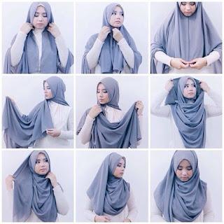 gaya hijab terbaru yang kekinian