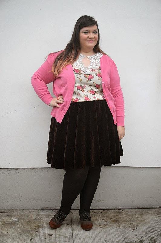 taglia 40 8fe1c e9bbe Outfit: gonna handmade, marrone e rosa | Plus... Kawaii ...