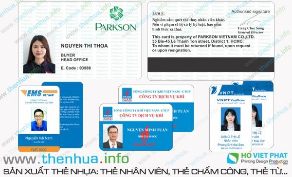 Làm thẻ nhân viên 2 mặt với công nghệ mới nhất chất lượng