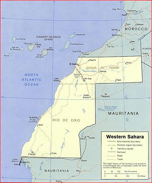 image: Western Sahara political Map