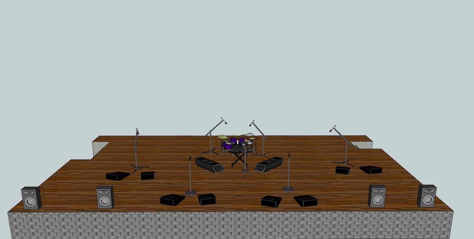 PA stage setup 3D