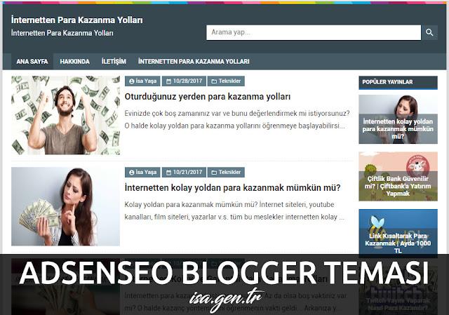 adsenseo blogger temasi