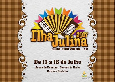 Ilha Julina 2017 será realizada entre os dias 13 e 16 de julho