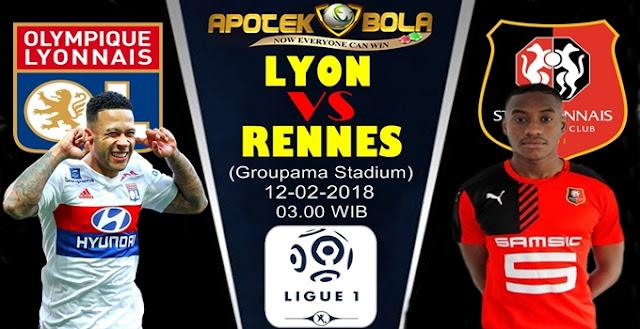 Prediksi Lyon vs Rennes 12 Februari 2018