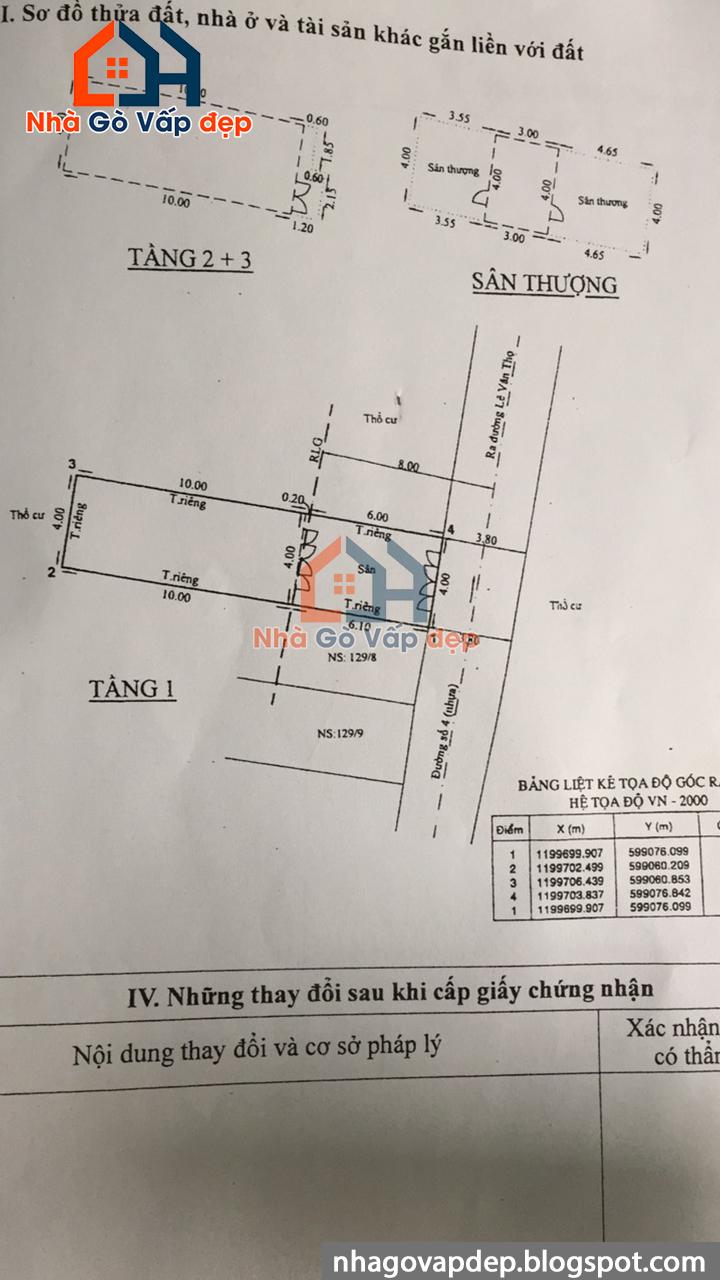 [ 5 tỷ 9 ] Nhà đẹp Gò Vấp mt đường số 4 phường 11, 4x16m, kinh doanh tốt không bị lộ giới Nha-duong-so-4-phuong-11-quan-go-vap-kinh-doanh-dau-tu-tot