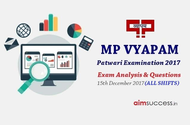 MP Patwari Exam Analysis 2017 - 15th December 2017