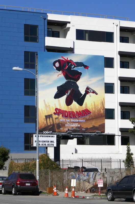 Spiderman Into the Spiderverse billboard