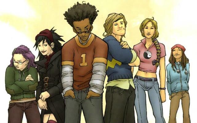 Portada del primer tomo del cómic Marvel's Runaways