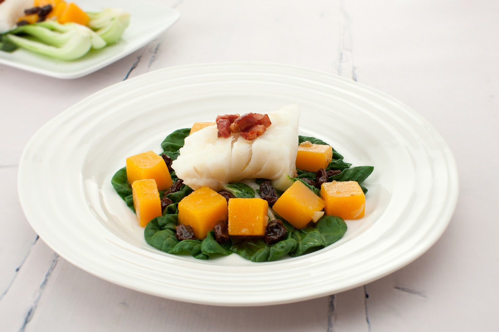 How To Make California Raisins Seared Cod With Pak Choi