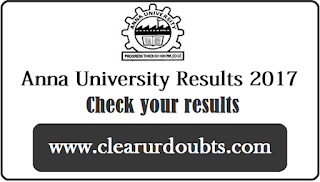 Anna University results May June 2017
