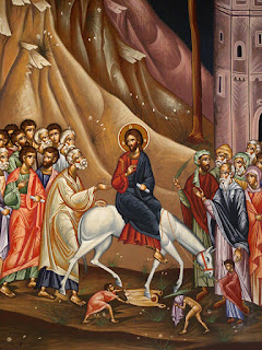Christ's triumphal entry into Jerusalem.
