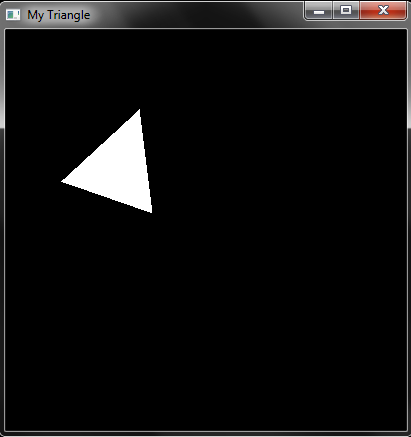 OpenGl code to make self rotating Triangle