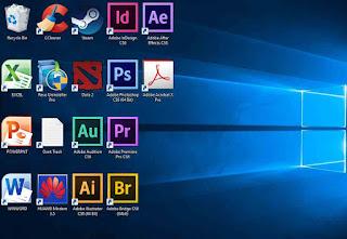 Mengatur icon desktop