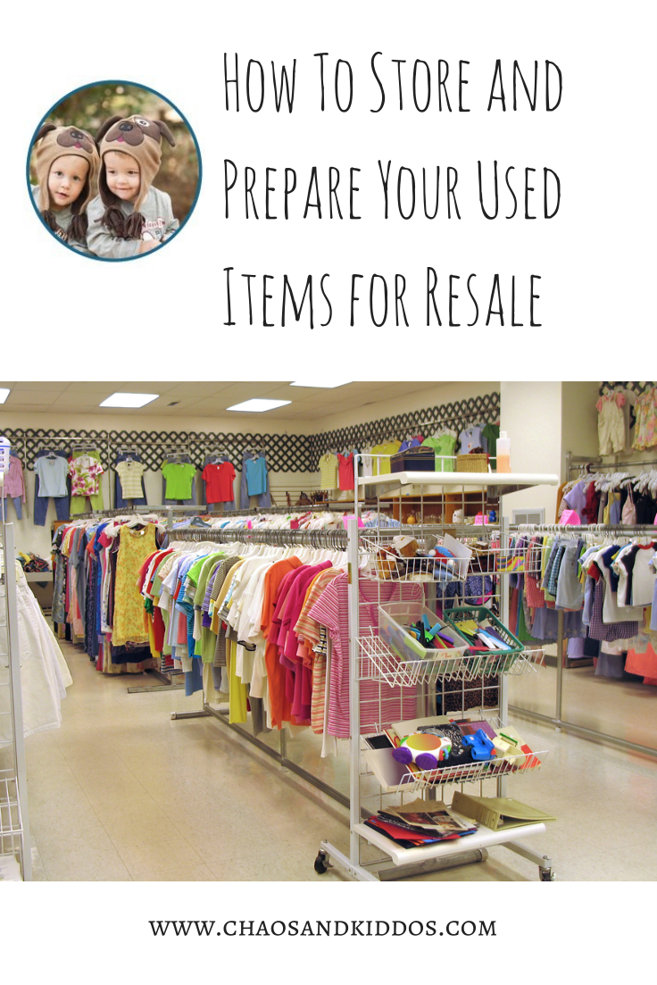 How to Store and Prepare Your Used Items for Resale - Infographic - Tips and Tricks for Consignment and Online Sales