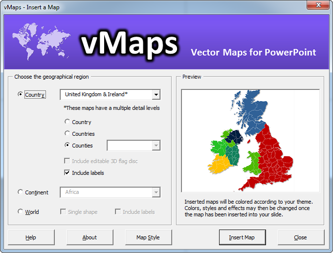 Map Of Uk For Powerpoint.Vmaps Add In For Powerpoint Gets New Uk Counties Map Youpresent