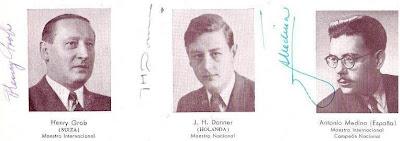 Henry Grob, J. H. Donner y Antonio Medina