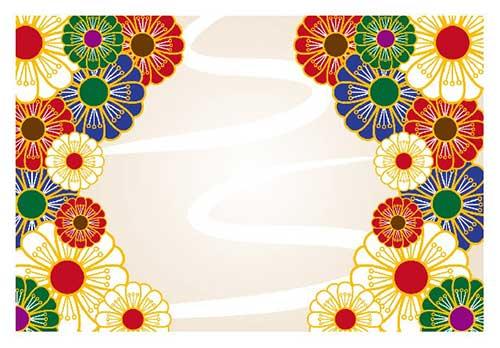 Decorative kimono pattern.