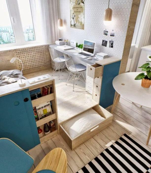 small apartment design - cute 3D rooms Pinterest Small - plan maison 3d gratuit