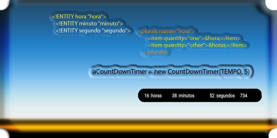 CountDownTimer Absolute / Horas / Minutos / Segundos / Milisegundos / Plural String