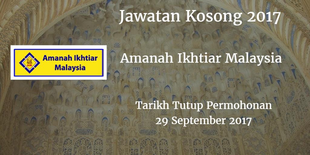 Jawatan Kosong Amanah Ikhtiar Malaysia 29 September 2017