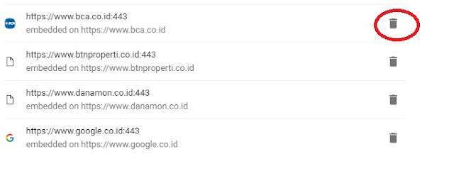 Gambar menu setting ijinkan akses lokasi google chrome