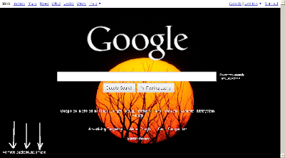 Google Homepage with Sunset Background Image Chosen from Public Gallery