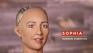 Sophia, the human-like robot from Hanson Robotics.