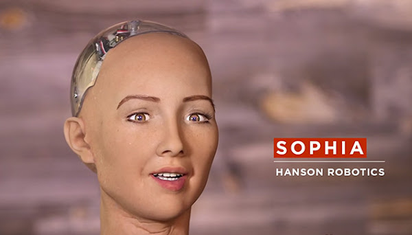 Sophia, the human-like robot from Hanson Robotics.