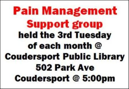 8/18 Pain Management Support Group