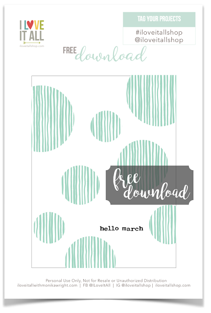 #hello march #free download #journaling card #march #pocket pages #pocket scrapbooking #Project Life #memorykeeping