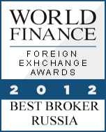 anugerah exness, exness award Best Forex Broker Russia 2012 World Finance