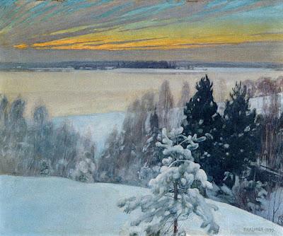 Pekka Halonen : paysage d'hiver