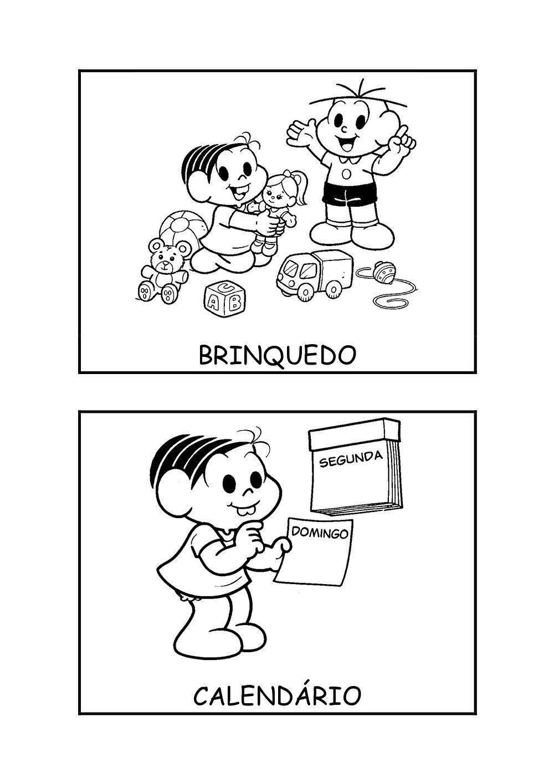 Fichas De Rotina Brinquedo E Calendario Pra Gente Miuda