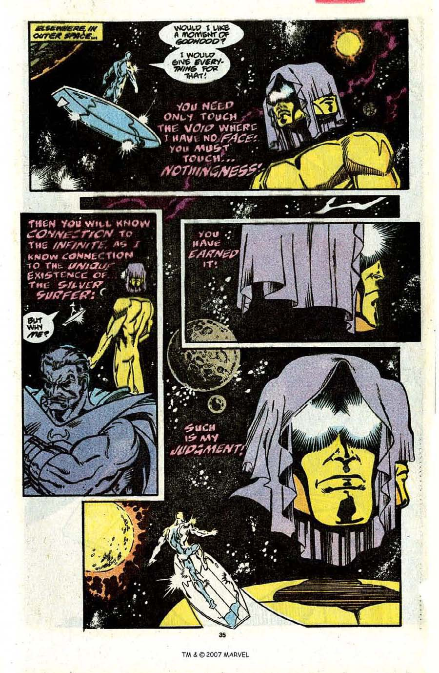 Read online Silver Surfer (1987) comic -  Issue #31 - 37
